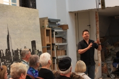 Yoan Capote artist talk at his studio